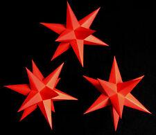 3D Adventsstern 3x kleine Sterne rot innen-SET Weihnachtsstern Erzgebirge Stern