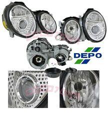 1999-2002 BENZ CLK 320 430 CLK55 AMG Projector Headlights DEPO in PAIR 00 01