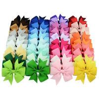 40pcs Children Grosgrain Ribbon Bow Tie Cute Hair Bows with Alligator Clips