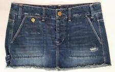 American Eagle Outfitters denim distressed cargo skirt size 6