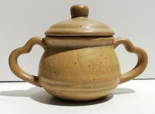 Hermitage Pottery Spongeware Sugar Bowl with Lid