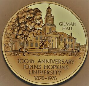 John Hopkins University 100th Anniversary Bronze Proof Medallion~Franklin Mint