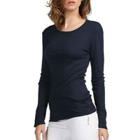 Brand Cotton Women Stretch T-Shirt Long Sleeve Tops & Tees Casual Solid T-Shirts