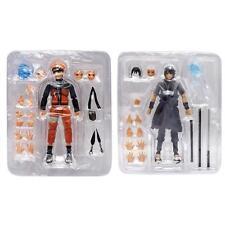 1pc Naruto Uchiha Sasuke/Uzumaki Naruto Anime 3D Model PVC Figure