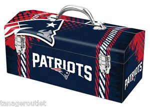 Official licensed New England Patriots  NFL Football team Tool Box (NEW)