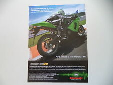 advertising Pubblicità 2005 MOTO KAWASAKI ZX-6R ZX-6 R