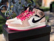 outlet store d3e91 18594 Nike Air Jordan 1 Mid SE Men Size 8 Women Size 9.5 Crimson Tint Pink 852542