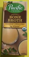 NEW Pacific Foods Organic Bone Broth (Chicken-Unsalted) 32oz  Free Shipping