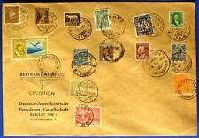 S131) Bertram atlantis Expédition Enveloppe avec 14 TIMBRES + poststempeln 1932