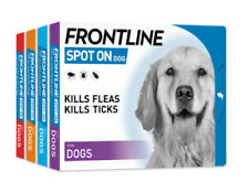 Frontline Spot On Flea,xTick & Lice Treatment For Cats&Dogs S,M,L,XL 3 pipettes