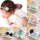 3pcs Headband Kids Girl Baby Toddler Bow Flower Hair Band Accessories Headwear