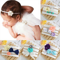Fashion 3PCS Baby Girls Infant Toddler Flower Bow Headband Hair Band Accessories