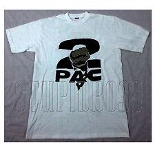 Vintage Men 1993 Tupac 2Pac White Hip Hop Rap Distressed gildan reprint S-XXL