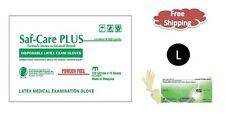 Saf-Care PLUS®  Powder Free Examination Latex Gloves- LARGE 1000/CS MEDICAL