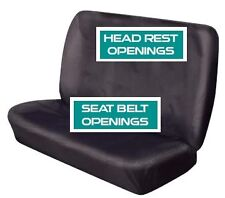 Cosmos Heavy Duty Waterproof  Universal Rear Bench Car Seat Cover in BLACK