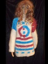 handgestrickt  Pullover  Sweater GERMAN hand knitted  Mohair  Unisex  42 44 L