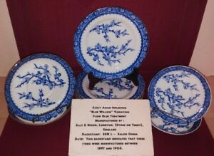 Early 1900's Salon China Blue & White Transferware Blue Willow?
