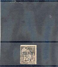 TAHITI Sc 25(YT 27)F-VF USED 1893 25c BLACK/ROSE $100