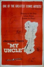 MON ONCLE one sheet movie poster 27x41 JACQUES TATI 1958 VERY RARE