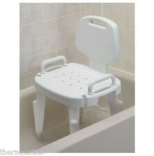 Adjustable SHOWER SEAT With Removeable Arms Back Bath Mobility Chair Grip Tub