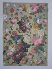 papier découpage technique serviette (thème: bouquets de rose) 68X48cm