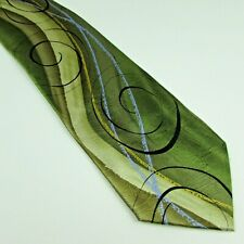 Jerry Garcia Tidal Wave Silk Tie Limited Edition Collection Forty One Green Blue