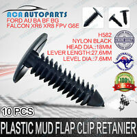 10pcs Plastic Mud Flap Retainer Fastener Clip For Ford Falcon AU BA BF FG XR6