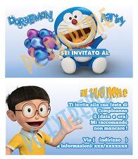Biglietti - Inviti Compleanno personalizzati DORAEMON 30 Pz