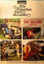 Montgomery Ward 1978 Farm Catalog FULL COLOR Garden Tractor 160pg Tool Tiller