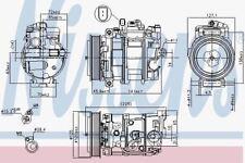 Nissens 890191 Compresor de Aire Acondicionado Porsche Cayman 05