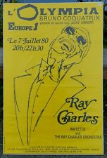 RAY CHARLES * Original Concert Poster * 1980 * L'Olympia Theatre * PARIS, France