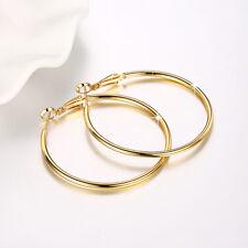 Wholesale 18K Gold Filled High Polished Big Circle Hoop Earrings Gift