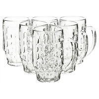 Bormioli Rocco 600ml Beer Glass Stein Tankard Glasses Dimpled Ale Mug 0.5L Lined