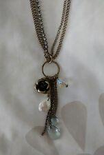 H&M Damas Latón/Diamante Multi Encantos Colgante Collar en muy buena condición