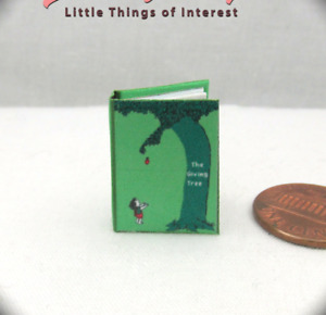 THE GIVING TREE Miniature Book Dollhouse 1:12 Scale Readable Illustrated Book