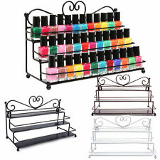 3 Layers Nail Polish Display Rack Organizer Shelf Metal Heart Shape Storage