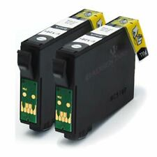 2 Black Compatible (non-OEM) Printer Ink Cartridges to replace T1281