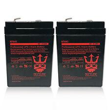2 Pack - 6VOLT 4.5AH RECHARGEABLE GAME FEEDER SLA 6V BATTERY