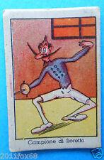 figurines cards figurine umoristiche anni 30 40 v.a.v. vav fioretto scherma foil