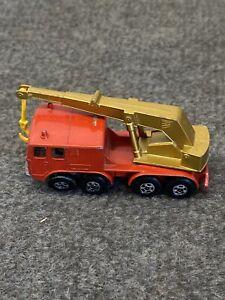 VIntage Matchbox Superfast #30 8 Wheel Crane TRANSITIONAL