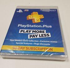 PlayStation Plus UK Card PSN 90 Days Code Brand New - Sealed
