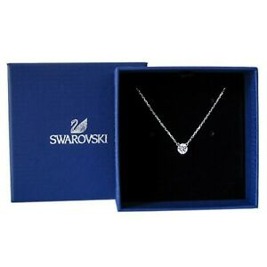 New Authentic SWAROVSKI Rhodium Sparkle Crystal Attract Pendant Necklace 5408442
