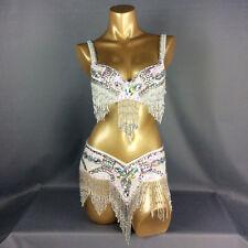 C1618 Bauchtanz Kostüm Fasching Belly Dance Costume 2 Teile Oberteil BH Gürtel