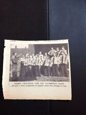 49400 1935 Ephemera Picture Henry Croudson And His Accordian Band
