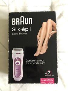Braun LS5100 Silk & Soft Battery Lady Shaver Shaver Legs & Body Battery Cordless