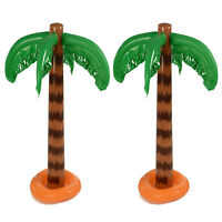 2x Inflatable Blow Up Palm Tree Hawaiian Tropical Pool Beach Party Decoration