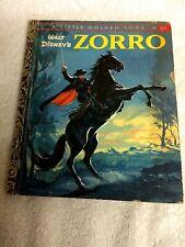 Walt Disney ZORRO 1958 little Golden Book first edition