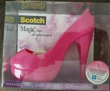 Scotch Magic Tape Dispenser - Pink High Heel Stiletto Pump - Free Shipping!!