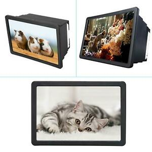 Portable Mobile Cell Phone Video Screen Magnifier 3D HD Amplifier Stand Bracket
