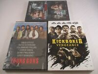 3 NEW Action DVDs, Kick Boxer: Vengeance/ Young Guns/ Ghost Writer.Dave Bautista